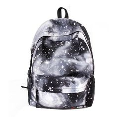 FINEJO Women's Spiral Galaxy Backpack CeLestial Bookbag (£15) ❤ liked on Polyvore featuring bags, backpacks, accessories, blue bag, daypack bag, galaxy print backpack, galaxy backpack and galaxy bag