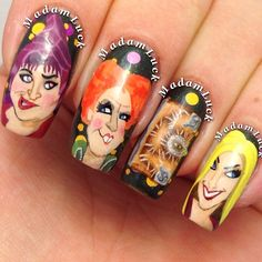These Hocus Pocus Halloween nails will put a spell on you!