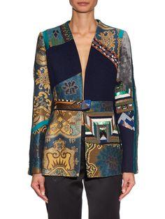 Patchwork embroidered-jacquard and velvet jacket | Etro | MATCHESFASHION.COM UK