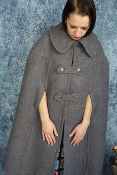 1cf5982b4ade29 Maxi wollen Kaap Gray mantel jas Winter wol jas warme wol Wollmantel,  Jacken Für Frauen