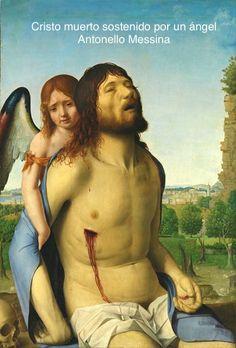 Cristo muerto sostenido por un ángel. Antonello Messina.