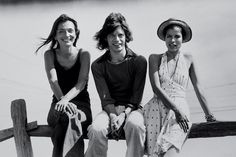 Lee Radziwill with Mick and Bianca Jagger in Montauk, N.Y., in 1972. © Peter Beard/Art + Commerce