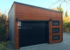 Urban garage garage design 16x20 with Planed cedar channel siding in Scarborough Ontario. ID number