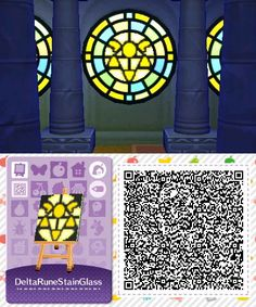 UnderTale: Delta Rune Stained Glass QR