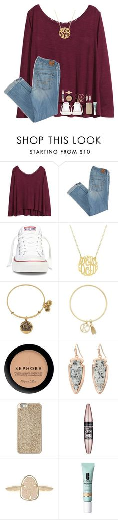 """""""HAPPY BIRTHDAY MARTHA!/RTD"""" by lindsaygreys ❤ liked on Polyvore featuring H&M, American Eagle Outfitters, Converse, Alex and Ani, BCBGeneration, Kendra Scott, Michael Kors, Maybelline and Clinique"""