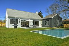 Modern Country Farmhouse Feel with clean lines and an easy open floorplan in the center of East Hampton Village.  Professional kitchen with Quartz white counter tops, white lacquer cabinetry, large center island, Stainless steel Viking range, Viking 36  refrigerator and open shelving.  Beautiful bathrooms with Waterworks fixtures, Natural wide plank oak flooring, finished basement including large lower level media room with 75 inch Samsung flat screen for home entertainment. Nest system…