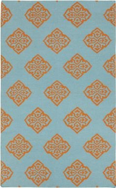 Surya Frontier FT-378 2'6 x 8' Dark Robin's Egg Blue Area Rug Flat Weave. Frontier. 2'6 x 8'. Hand Woven (Flatweave). India.  #Surya #Home