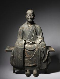 Portrait of the Zen Master Hotto Kokushi (bench), c. 1286  Japan, Kamakura Period (1185-1333)