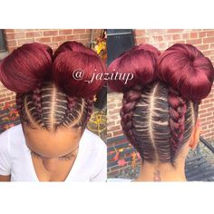 35 Absolutely Beautiful Feed In Braid Hairstyles - Part 23 Feed in braids are a popular protective style that's created with hair extensions which are fed into each braid starting near the roots of the hair. Feed In Braids Hairstyles, Weave Hairstyles, Girl Hairstyles, Black Hairstyles, Two Braids Hairstyle Black Women, French Braids Black Hair, Hairstyles Pictures, Braid Buns, Feed In Braids Ponytail