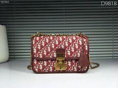 78bbd9b94c1 Christian Dior CD woman addict canvas chain flap bag oblique shoulder bags  red