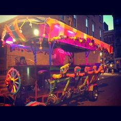 This looks awesome. Its called the 'Pedal Wagon', and is new to Cincinnati! Gotta try this out. 15 person pedalin' party!