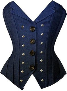 Classic Blue Denim Revit Studded Corset Vest Bustier Basque Waistcoat Top S Mode Steampunk, Steampunk Corset, Steampunk Fashion, Denim Corset, Corset Shirt, Shirt Vest, Blue Denim Shirt, Denim Shirts, Denim Top