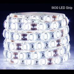 5M 300Leds 5630 Cool White Super Bright LED Strip SMD Light Waterproof 12V DC US