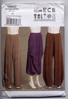 New Vogue 8637 Marcy Tilton Yoga Pants and by PrettyPatternShop