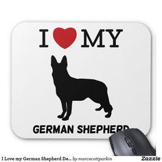 I Love my German Shepherd Design