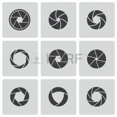 iconos de cámara de obturación ajustada Foto de archivo - 24596737
