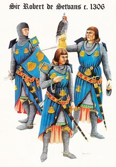 Sir Robert de Setvans c.1306 by Chris Rothero, first appeared in Military Modelling in the 80s.