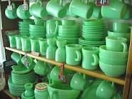 Jadeite Fireking... Would love to have a collection this big!! It's growing so maybe someday!
