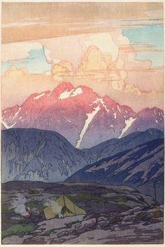vjeranski: YOSHIDA Hiroshi(Japan 1876 – 1950)Morning on Mount Tsurugi, Nihon Arupusu jû-ni dai no uchi Tsurugizan no asa1912 - 1926 → Japan