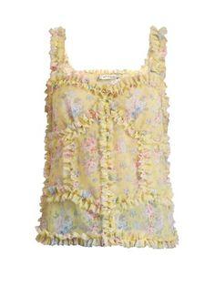 Ana ruffled floral-print cami top | Attico | MATCHESFASHION.COM US