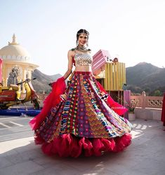 Looking for a budget lehenga store in Delhi? Check out the collection by Ricco India. Lehenga prices start from INR and they even do banarasi lehengas. Indian Gowns Dresses, Indian Fashion Dresses, Dress Indian Style, Indian Designer Outfits, Pakistani Dresses, Fashion Outfits, Bollywood Lehenga, Indian Lehenga, Lehenga Choli