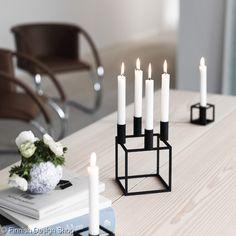 kubus,by lassen,kynttilänjalka,koriste-esine,finnish design shop,kynttilät,kynttelikkö,design,musta,metalli,klassinen