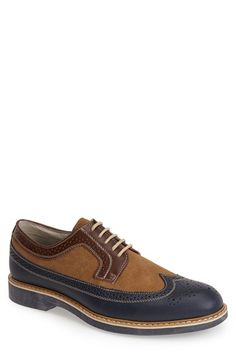 G.H. Bass and Co. G.H. Bass & Co. 'Pearson' Longwing Spectator Shoe (Men) available at #Nordstrom