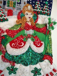 Bucilla Felt Christmas Stocking Princess 7
