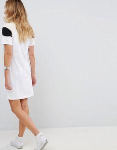 ASOS Maternity Curve Hem Color Block Dress - Multi