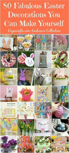 80 Fabulous Easter Decorations You Can Make Yourself – DIY & Crafts  Spring and Easter