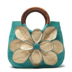 Love it!!! Flower Tote Guadeloupe Aqua, $98, now featured on Fab.