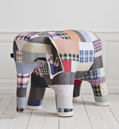 Jessica Ogden & Lee Benjamin, Lily's Castle in the Sand Exhibition, 2012, Patchwork elephant.