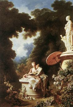 Jean-Honore Fragonard (Jean Honore Fragonard) (1732-1806)  The Confession of Love