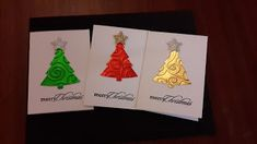 Simply jacquis cards: Handmade Christmas tree Gift Cards