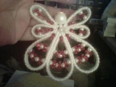 Plastic Canvas Patterns Ornaments Printables | ... View topic - Angel Ornament- Start with Plastic Canvas Strips & Beads