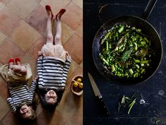 Spring in a pan - asparagus, fava beans, peas, sorrel - pure goodness.