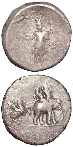 Alexander the Great. The bottom shows him fighting King Porus (on the elephant), ruler of a region in the Punjab 326 BCE. Top: he is crowned by Minerva. Historical Artifacts, Ancient Artifacts, Greek History, Ancient History, Alexandre Le Grand, Gold And Silver Coins, Celtic, Antique Coins, Alexander The Great