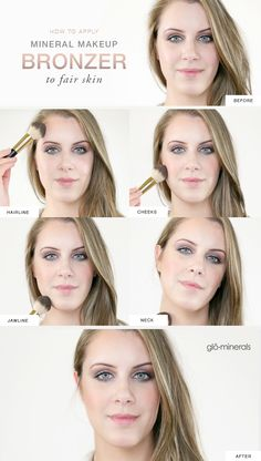 How to Apply Mineral Makeup Bronzer to Fair Skin Purchase Pharmacuetical grade makeup here ⬇️ https://squareup.com/store/perfectly-ageless-esthetics