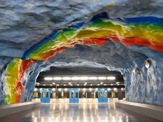 Slideshow:World's Longest Art Gallery: Stockholm Metro by Low Lai Chow (image 1) - BLOUIN ARTINFO, The Premier Global Online Destination for Art and Culture | BLOUIN ARTINFO