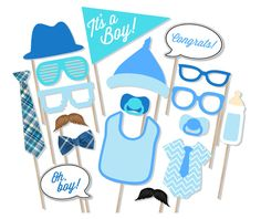 It's A Boy Baby Shower Printable Photo Booth Props  Baby