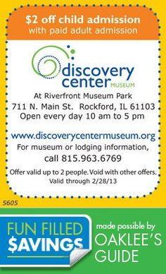 Save at the Discovery Center Local Coupons, Discovery, Children, Young Children, Boys, Kids, Child, Kids Part, Kid