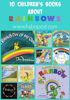 Check out this fun list of children's books about rainbows for spring!