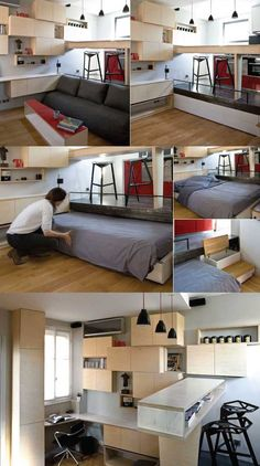 by PATH Architecture.  Great idea for a tiny apartment