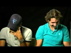#Federer and #Nadal in a fit of laughter during shooting. #tennis