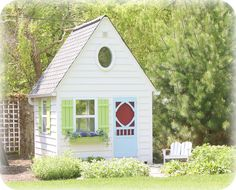 This is beyond adorable! Click thru to see the interior, too. I can't imagine having the time, money and energy to create something like this. But I would sure love it!