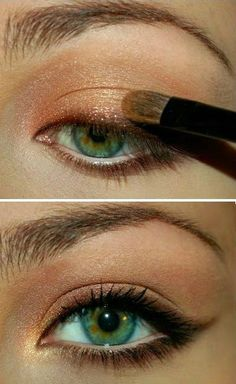 This look reminds us of a sunset on the beach! // Bronze Simple Makeup Tutorials