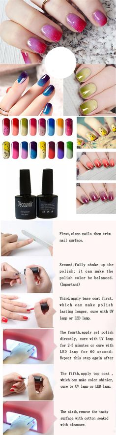 US$ 6.39 DECOUVRIR Temperature Change UV Gel Polish Color Changing Gradient Thermal Chameleon