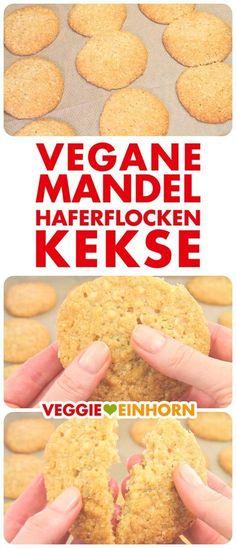 Schnelle VEGANE MANDEL-HAFERFLOCKEN-KEKSE | Einfaches Rezept mit Schritt-für-Schritt Foto-Anleitung und VIDEO