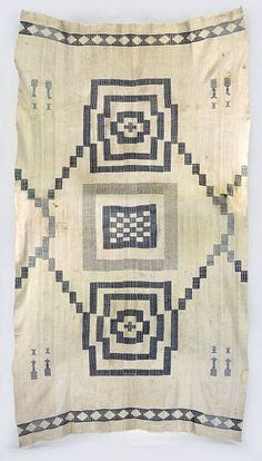 Africa   Prestige/ceremonial textile from the Mende people of Sierra Leone   19th century   Cotton, indigo.  17 strips sewn together
