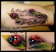 3d ladybug tattoo.                                                       …